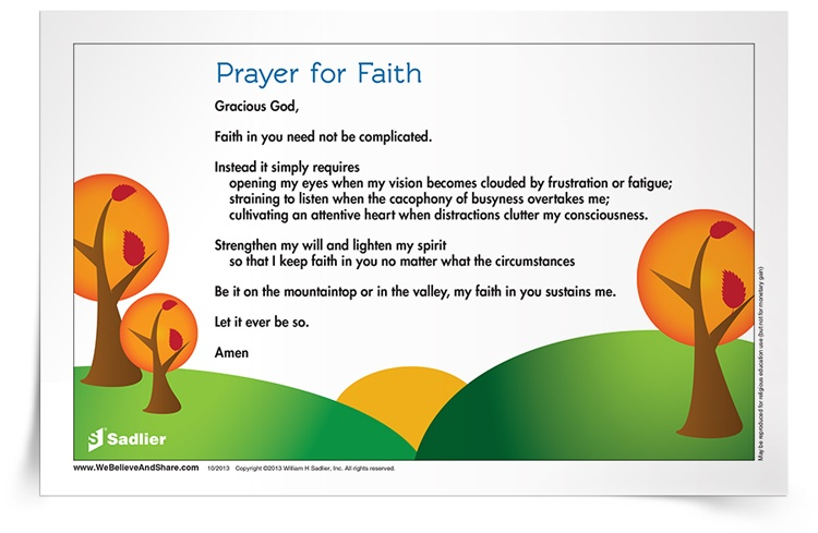 <em>Prayer for Faith</em> Prayer Card