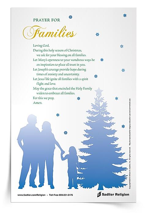 Download my Prayer for Families and use it in your home or classroom.