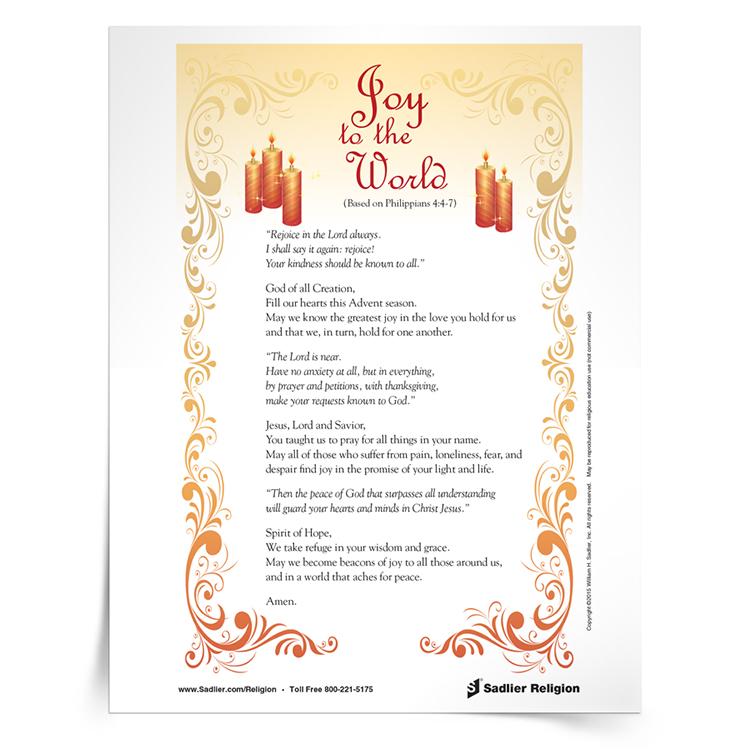 <em>Joy to the World</em> Prayer Card