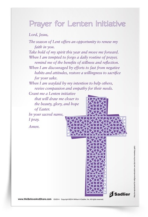 <em>Prayer for Lenten Initiative</em> Prayer Card