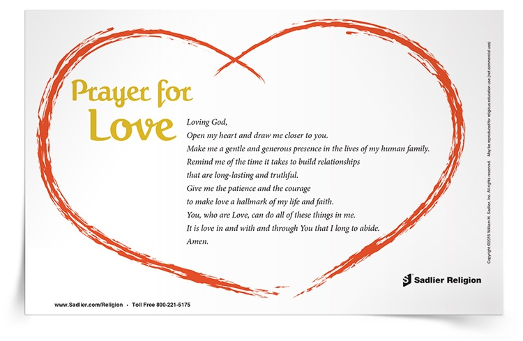 <em>Prayer for Love</em> Prayer Card
