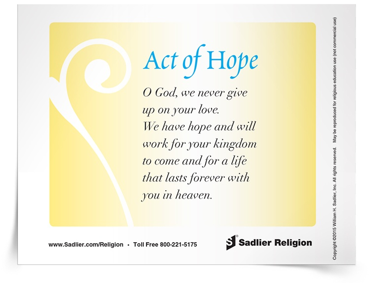 <em>Act of Hope</em> Prayer Card