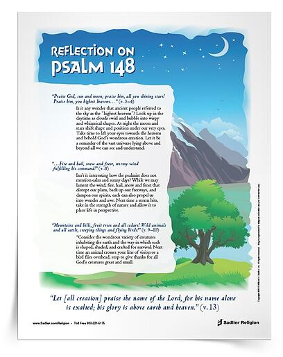 Care for God's Creation Printables for Catholics – Reflection Psalm148