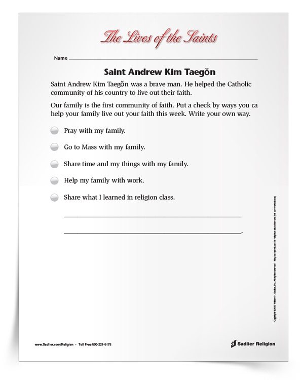 <em>Saint Andrew Kim Taegŏn</em> Activity