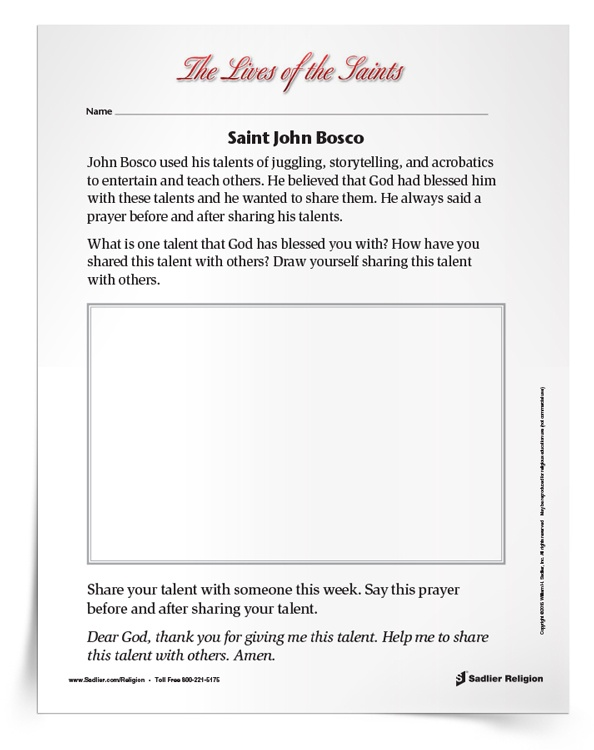 <em>Saint John Bosco</em> Activity