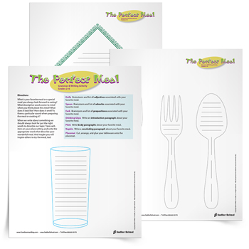 <em>The Perfect Meal</em> Grammar & Writing Activity