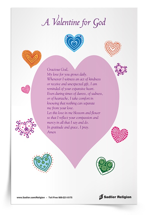 <em>A Valentine for God</em> Prayer Card