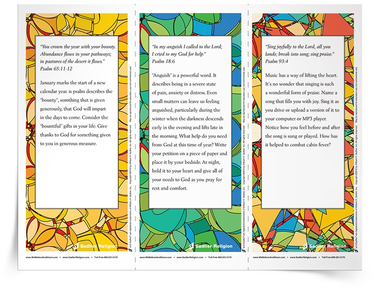 <em>January Psalm</em> Reflection Cards