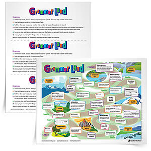 Grammar Land Game Board, Grades 3–12