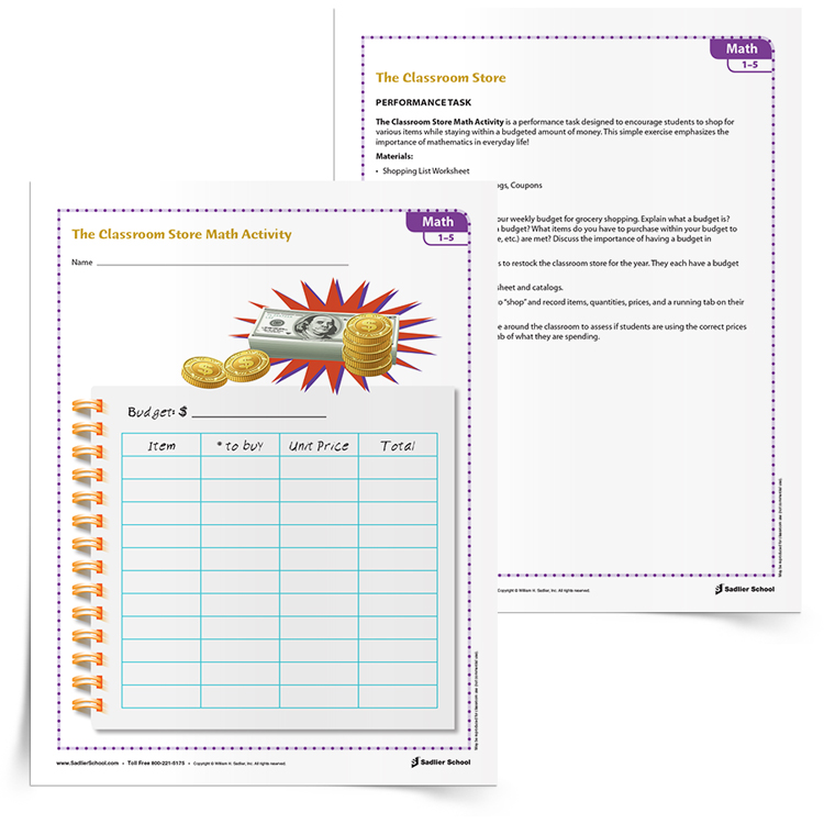 <em>The Classroom Store Budgeting</em> Activity