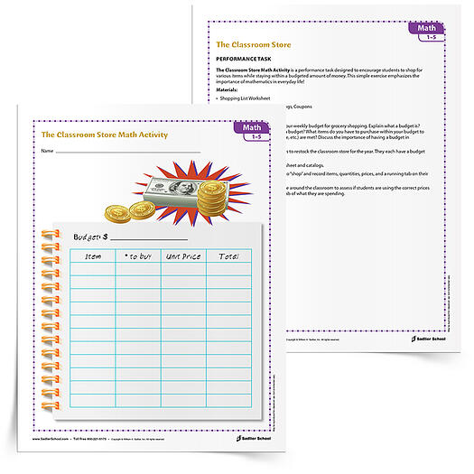 FREE DOWNLOAD: The Classroom Store Money Lesson Plan