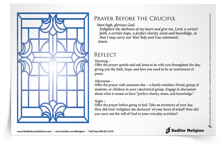 <em>Prayer Before the Crucifix</em> Reflection