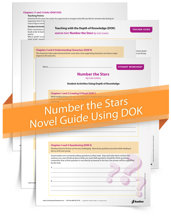 <em>Number the Stars</em> Novel Guide Using Webb's Depth of Knowledge