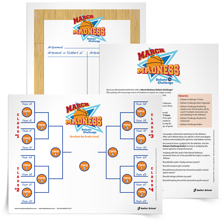 <em>March Madness Debate Challenge</em> Lesson Plan