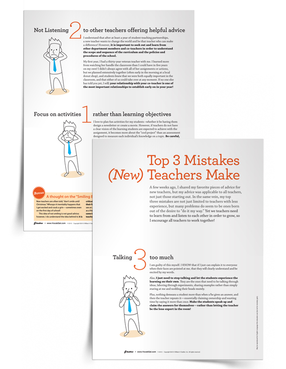 <em>Top 3 Mistakes Teachers Make</em> Tip Sheet