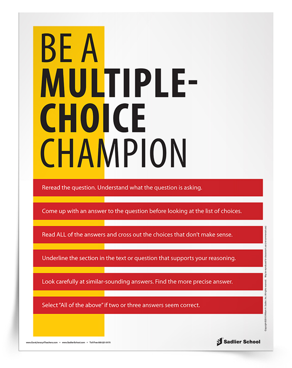 <em>Be A Multiple-Choice Champion</em> Tip Sheet