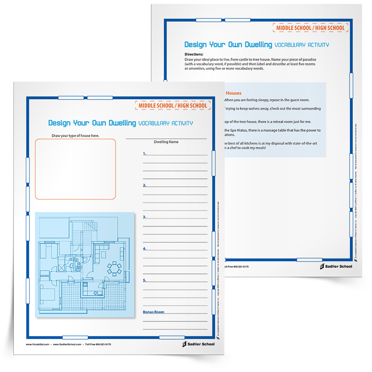 <em>Design Your Own Dwelling</em> Vocabulary Activity