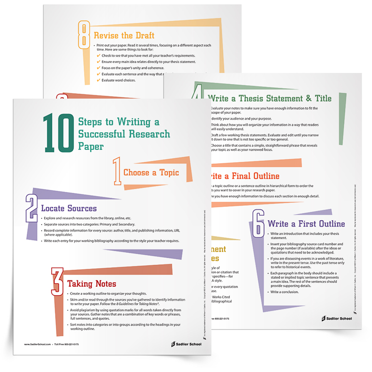 <em>10 Steps to Writing a Successful Research Paper</em> Checklist + Model Research Paper