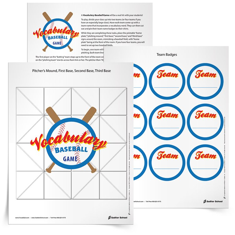 <em>Vocabulary Baseball </em>Game