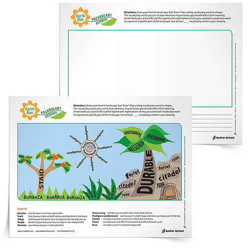 Earth Day Writing Activities for Students earth-day-writing-activities-vocabulary-750px