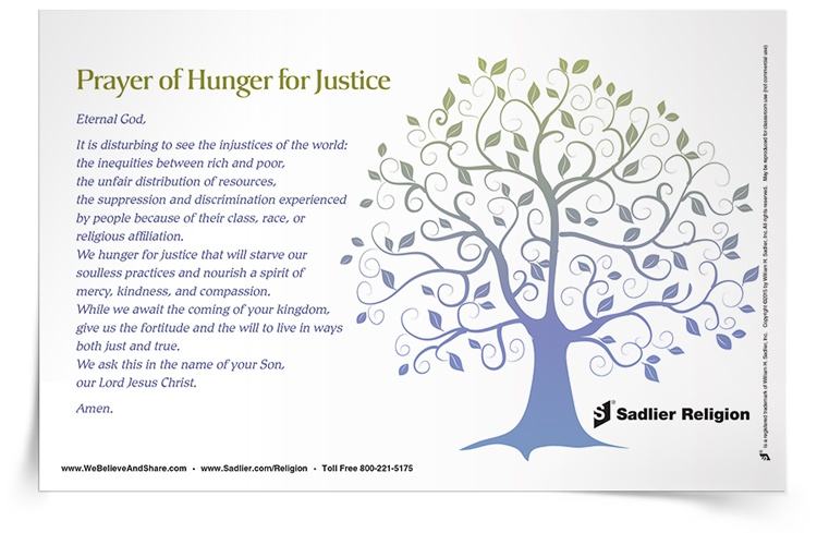 <em>Prayer of Hunger for Justice</em> Prayer Card