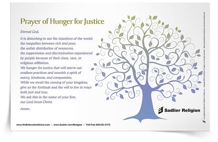 <em>Prayer of Hunger for Justice</em> Prayer Card