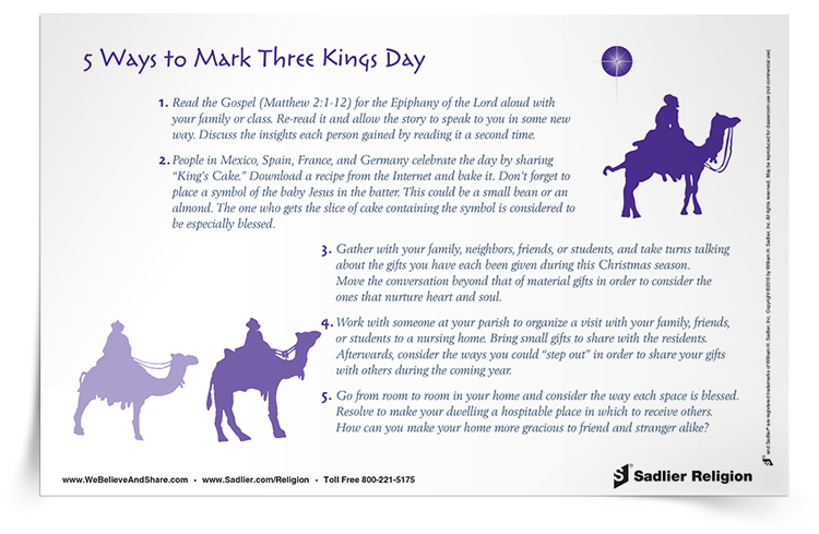 <em>5 Ways to Mark Three Kings Day</em> Reflection