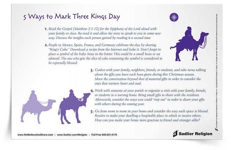 <em>5 Ways to Mark Three Kings Day</em> Reflection
