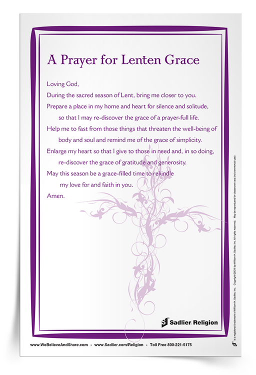 <em>A Prayer For Lenten Grace</em> Prayer Card