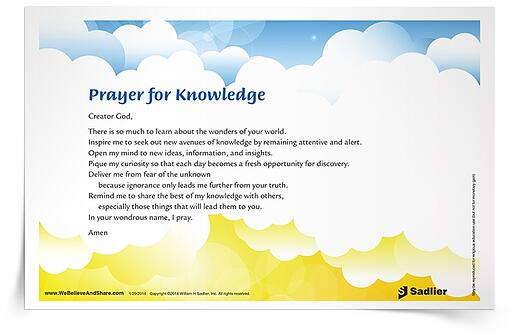 Help students understand their roles in Catholic education by recognizing their accomplishments. Consider a fun school-wide gathering that celebrates student or class achievements in relation to the 2018 theme of Catholic Schools: Learn. Serve. Lead. Succeed. Bring to light the differences students can make as they learn, serve, lead, and succeed in their schools, communities, and the world.  For further reading, explore this Prayer for Knowledge to celebrate the wonder and joy of learning. Share it with your students during Catholic Schools Week.