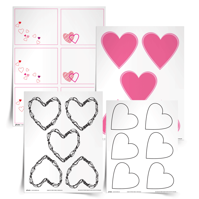 <em>Valentines to Vocabulary</em> Template