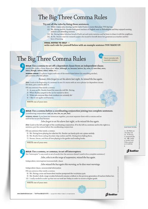 the-big-3-comma-rules-printable-grammar-worksheets