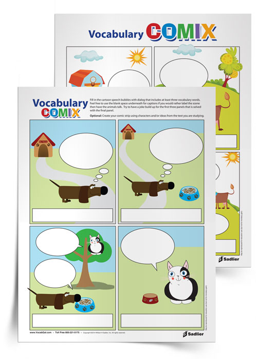 <em>Vocabulary Comix</em> Activity