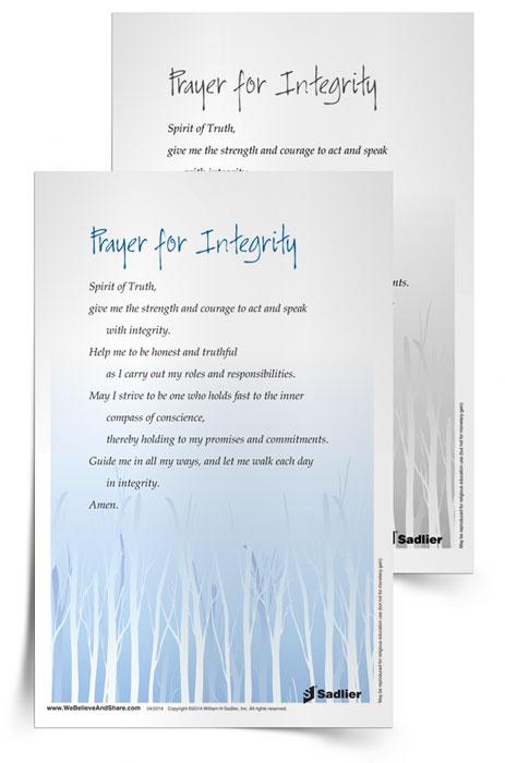 <em>Prayer for Integrity</em> Prayer Card