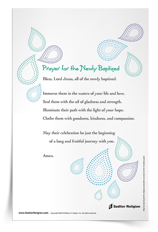 <em>Prayer for the Newly Baptized</em> Prayer Card