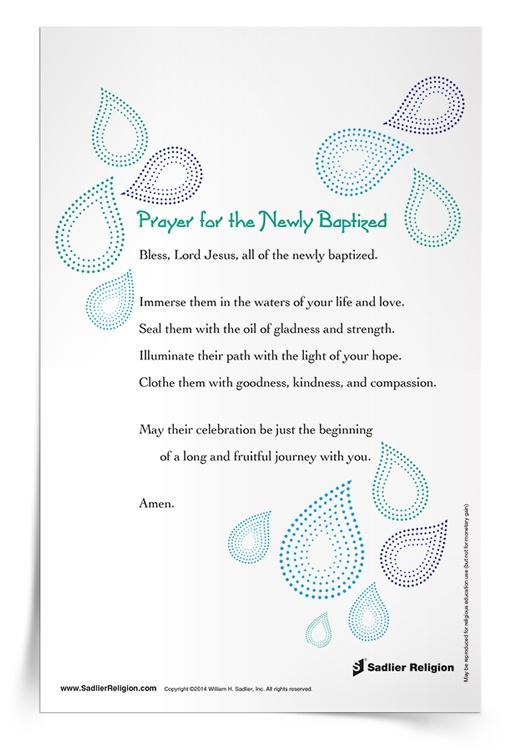 <em>Prayer for the Newly Baptized</em> Prayer Card