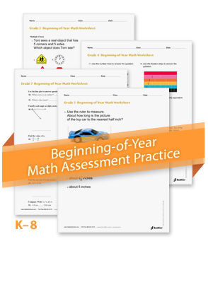 Beginning-of-Year Math Assessment Practice by Grade Level