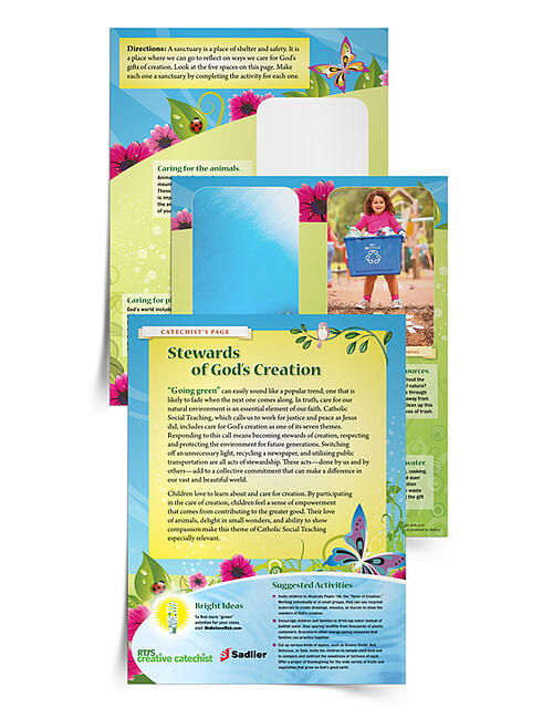"""Download a colorful Stewards of God's Creation lesson with a prayer celebration and suggested activities. It also includes """"Bright Ideas"""" for applications beyond the classroom.stewards-of-gods-creation-lesson"""