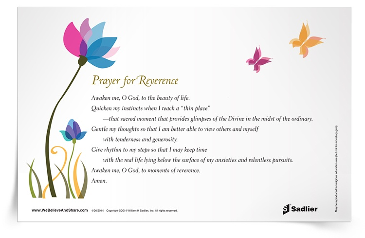 <em>Prayer for Reverence</em> Prayer Card