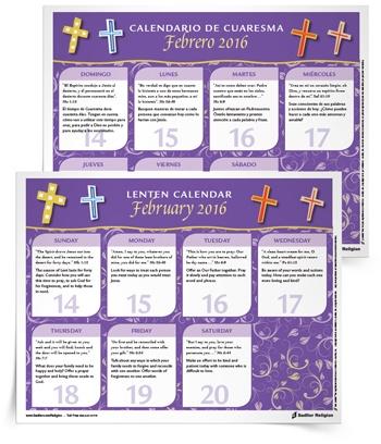 2016 Lenten Calendar