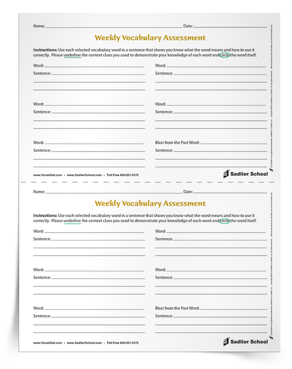 As easy as it is to grade a multiple choice vocabulary quiz, a differentiated weekly vocabulary assessment allows teachers to see the depth of each student's vocabulary knowledge. Download an alternative vocabulary assessment to use in your classroom!