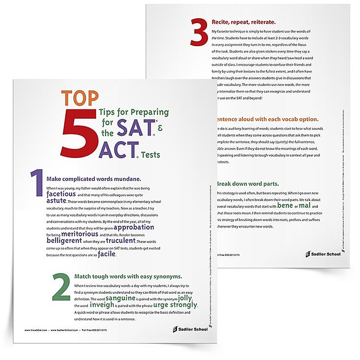 Top Student Tips for Taking the SAT and ACT Tests – Sat Practice Worksheets