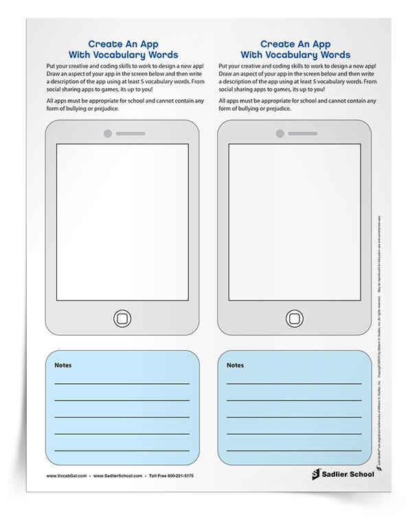 Create Vocabulary Worksheets : Vocabulary practice worksheets for digitally savvy students