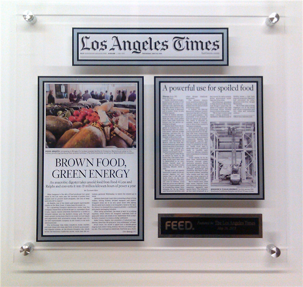 Acrylic Wall Display Plaque Los Angeles Times - Centree Santiago.