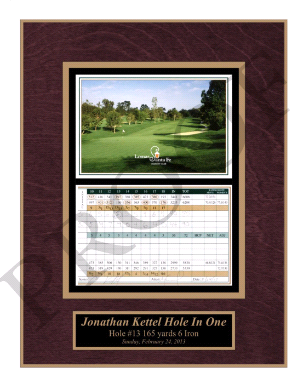 Golf Wall Plaque with scorecard and custom engraved name plate.