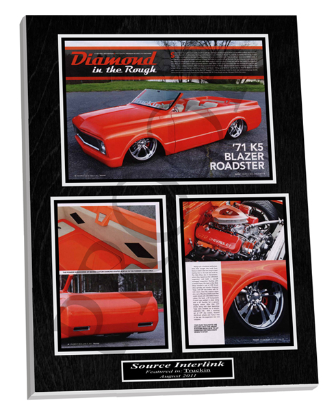 Sample Custom Car Plaque