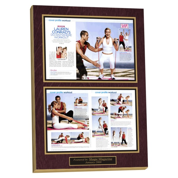 preserving magazine articles, custom laminated plaques,framing magazine articles