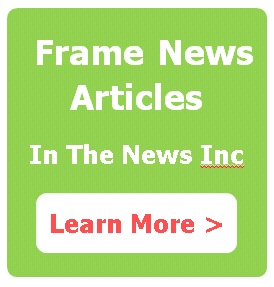 frame news articles, framing news articles, article plaques,