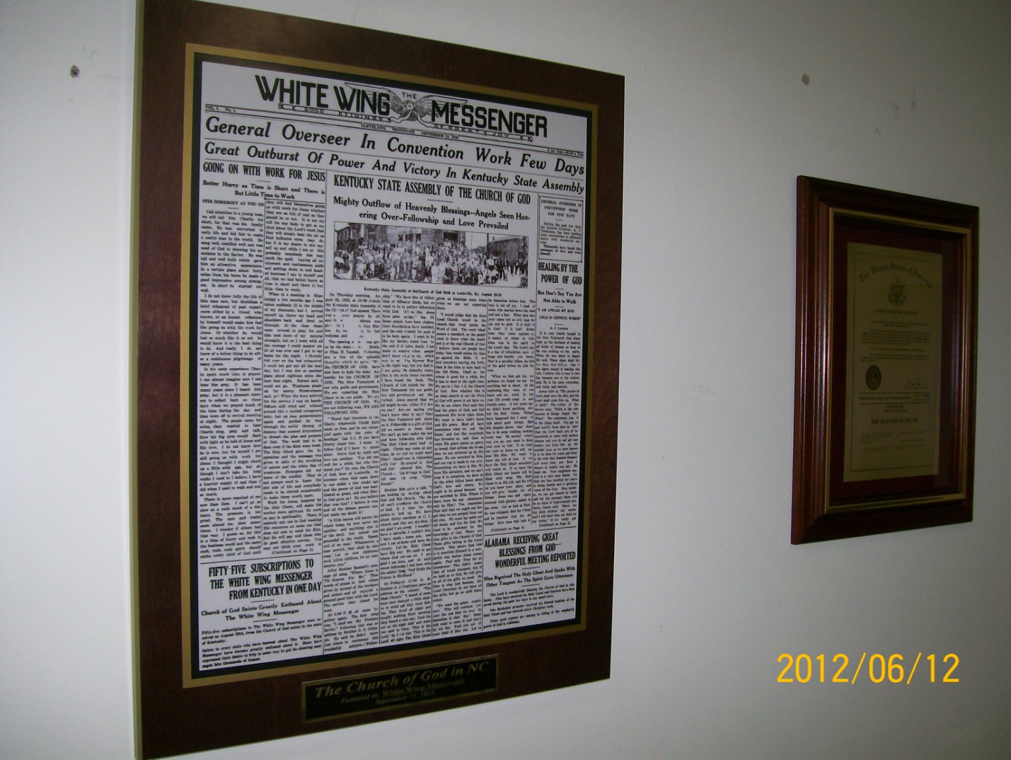 preserve documents, frame old articles