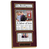 laminated plaques, plaques from magazine articles